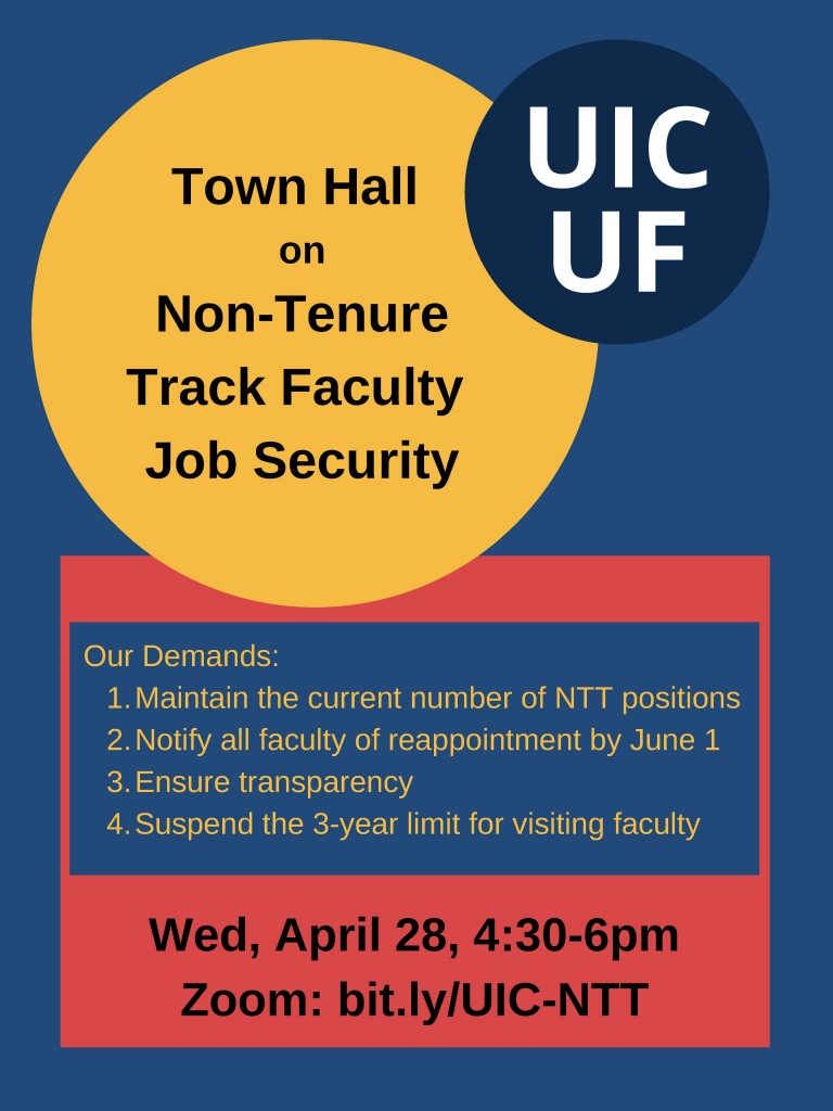 Town Hall on Non-Tenure Track Faculty Job Security